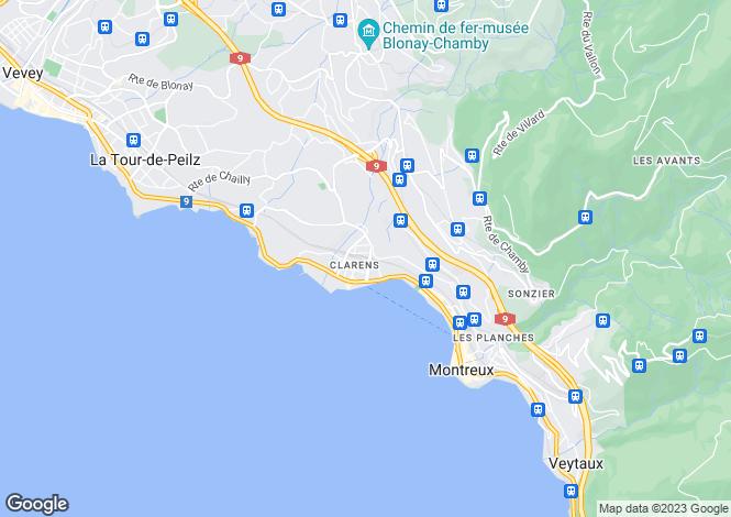 Map for Switzerland - Vaud, Clarens