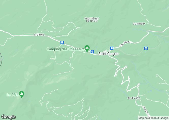 Map for Vaud, St-Cergue