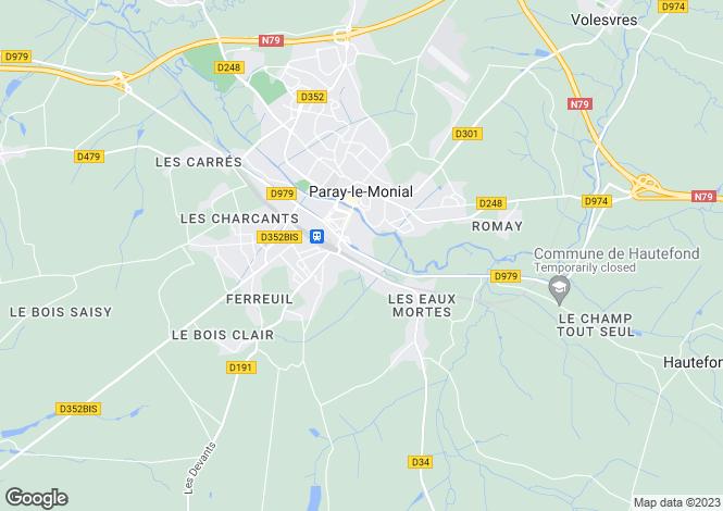 Map for PARAY LE MONIAL, SAONE ET LOIRE