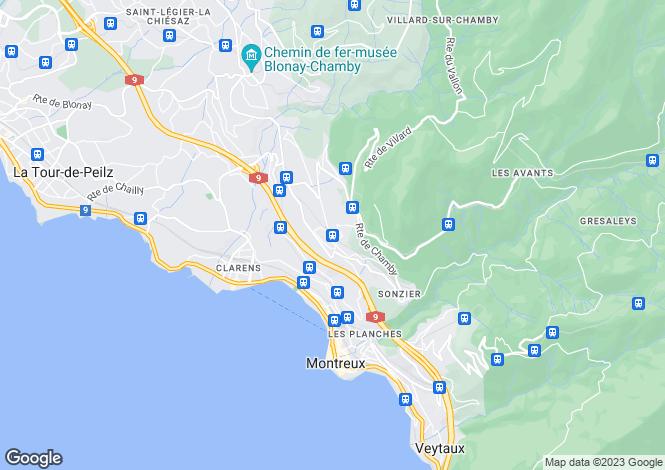 Map for Switzerland - Vaud, Chernex