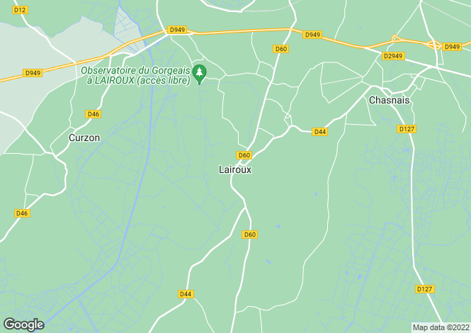 Map for Pays de la Loire, Vendée, Lairoux
