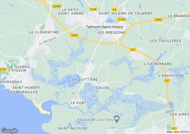 Map for st-georges-de-pointindoux, Vendée, France