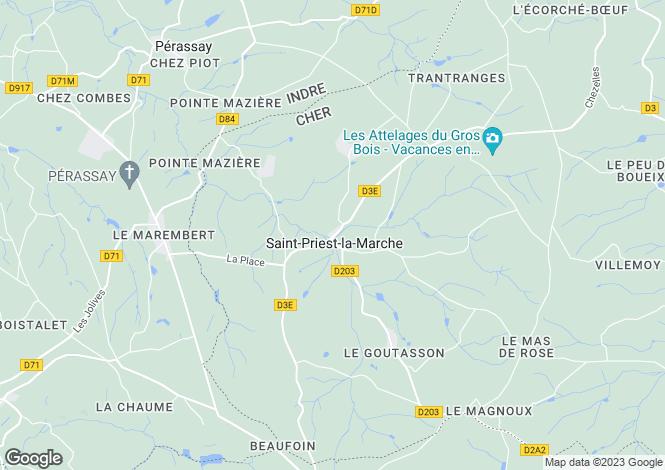 Map for st-priest-la-marche, Cher, France