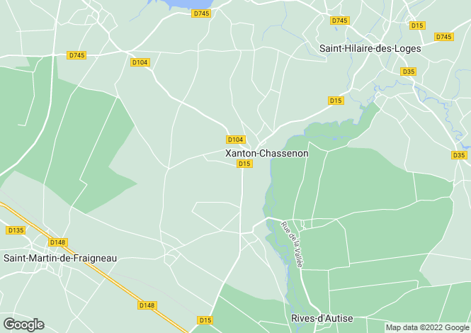 Map for xanton-chassenon, Vendée, France
