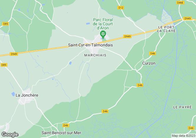 Map for st-cyr-en-talmondais, Vendée, France