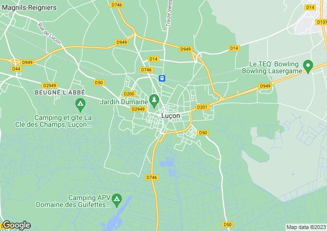 Map for Proche/Near Lucon, Vendee