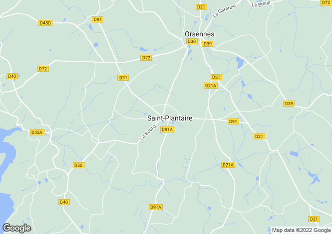 Map for st-plantaire, Indre, France