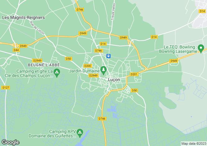 Map for Pays de la Loire, Vendée, Luçon