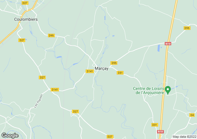Map for marcay, Vienne, France