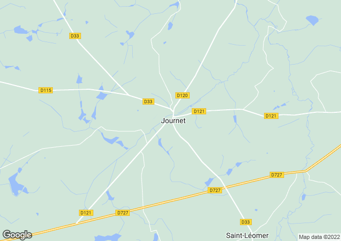 Map for Montmorillon, Vienne, Poitou-Charentes