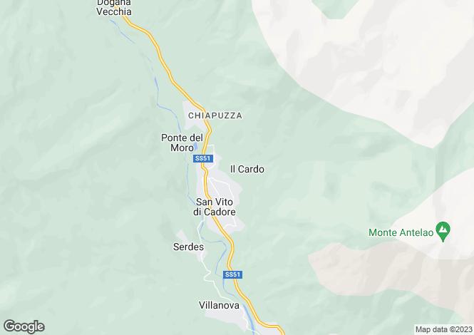 Map for San Vito di Cadore