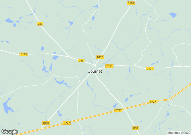 Map for journet, Vienne, France