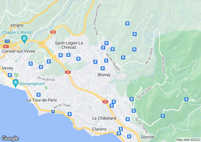 Map for Vaud, Blonay