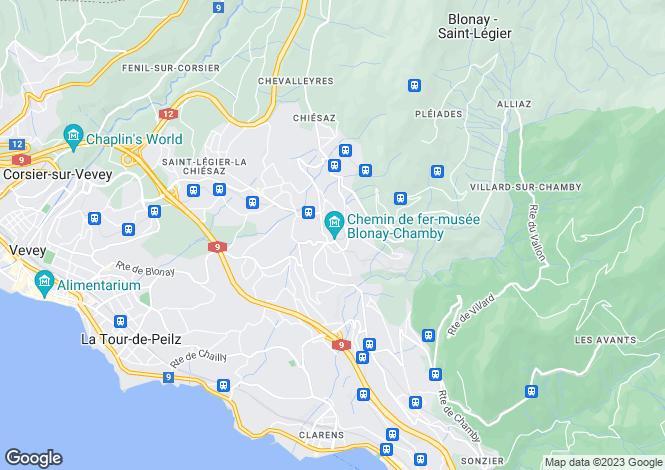 Map for Switzerland - Vaud, Blonay