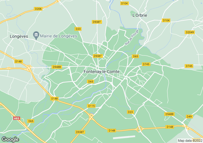 Map for Proche / Near Fontenay-le-Comte, Vendee