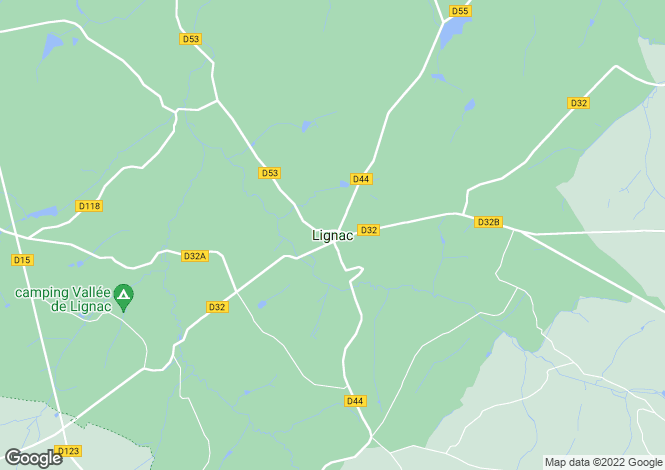 Map for Proche/Near Dunet, Indre