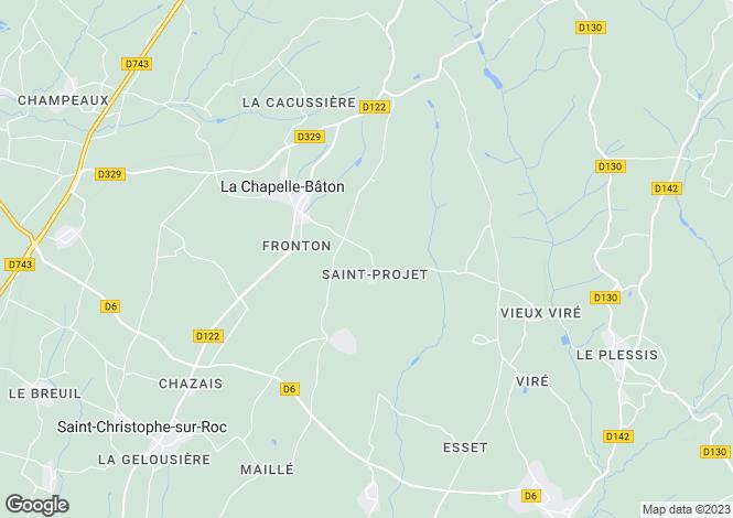 Map for , Deux-Sèvres, France
