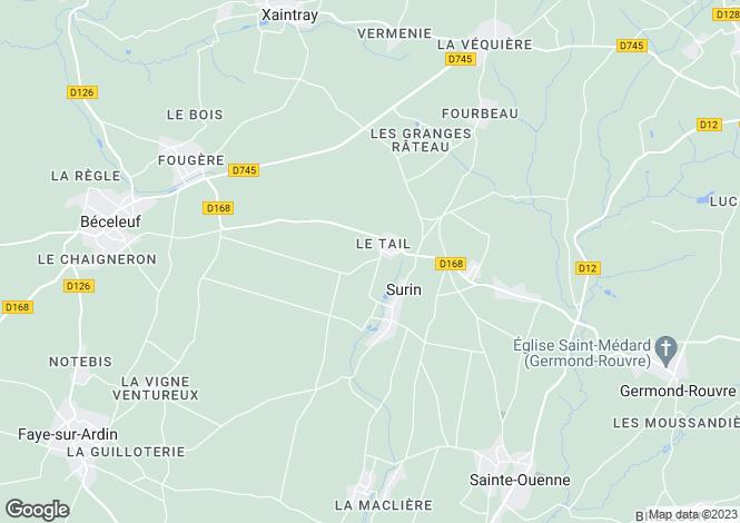 Map for champdeniers-saint-denis, Deux-Sèvres, France