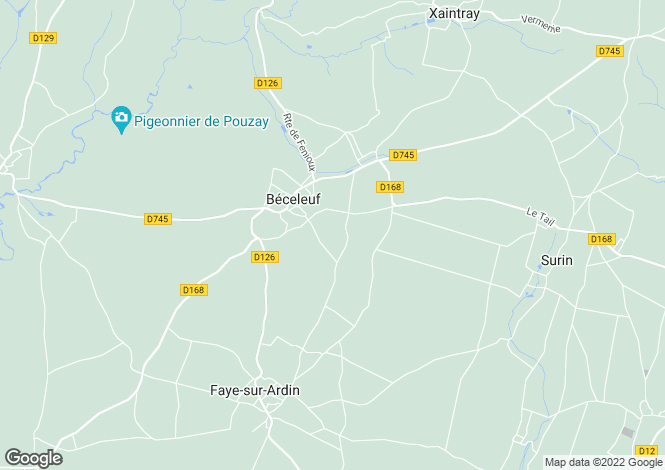 Map for beceleuf, Deux-Sèvres, France