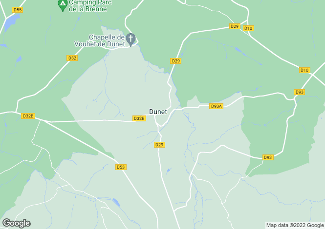 Map for Centre, Indre, Dunet