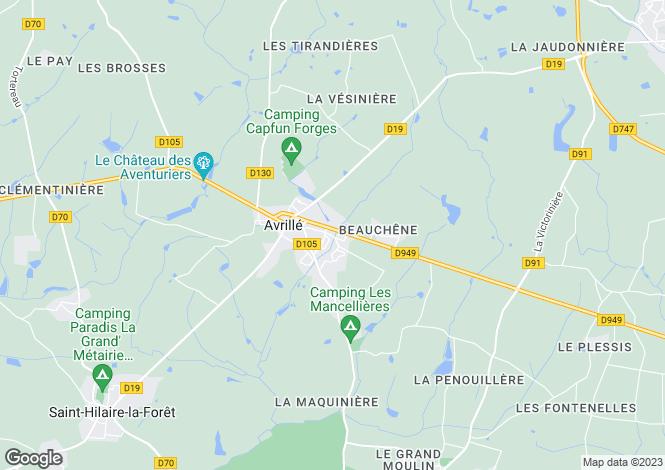 Map for avrille, Vendée, France