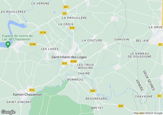 Map for Pays de la Loire, Vendée, St-Hilaire-des-Loges