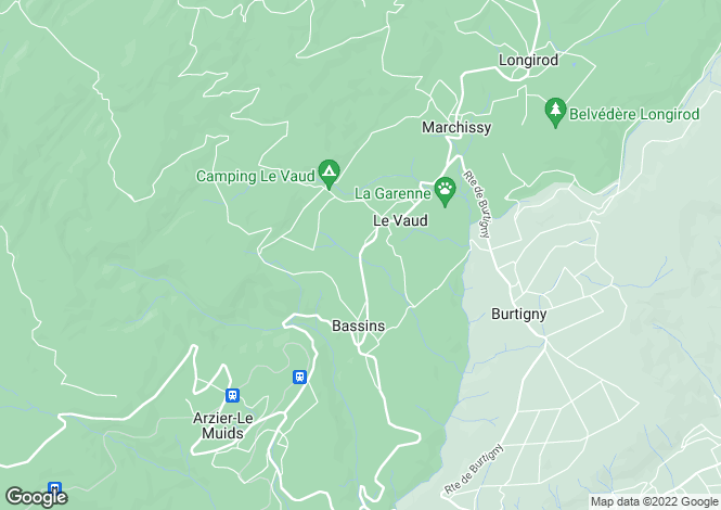 Map for Vaud