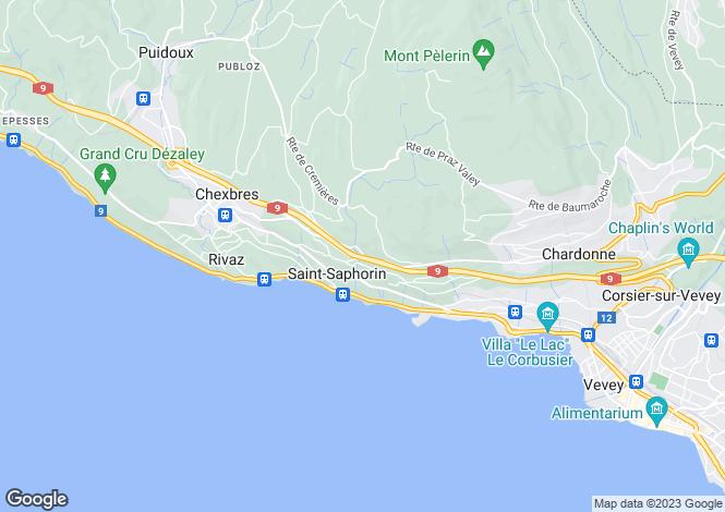 Map for Vaud, Chardonne