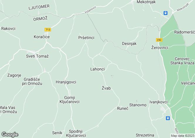 Map for Ljutomer, Lahonci, Slovenia