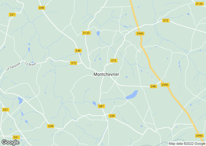 Map for montchevrier, Indre, France