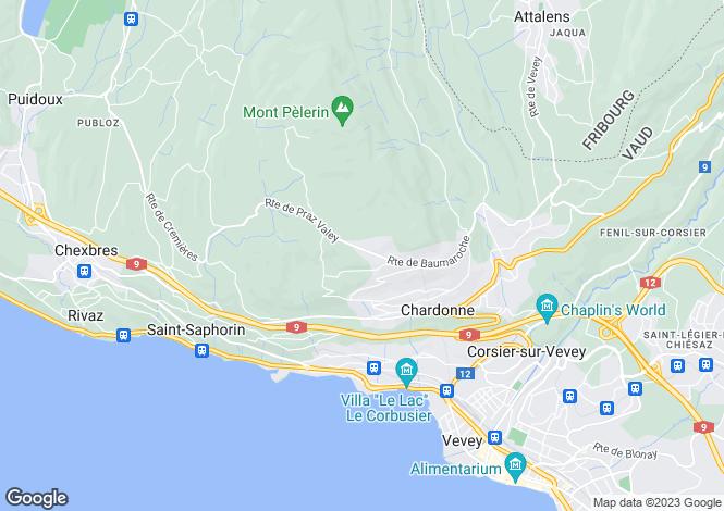 Map for Switzerland - Vaud, Vevey