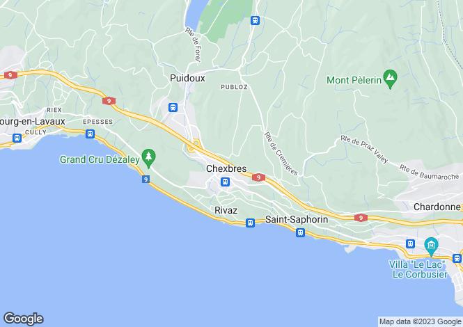 Map for Vevey, Vaud, Switzerland