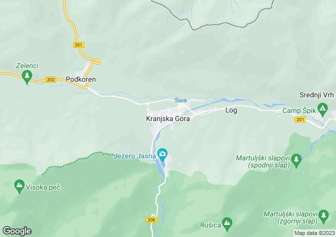 Map for Kranjska Gora, Jesenice, Slovenia