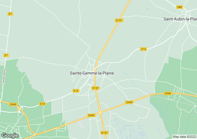 Map for ste-gemme-la-plaine, Vendée, France