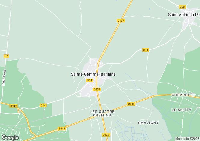 Map for Pays de la Loire, Vendée, Ste-Gemme-la-Plaine