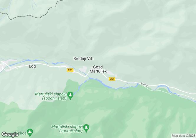Map for Gozd Martuljek, Kranjska Gora Area, Slovenia