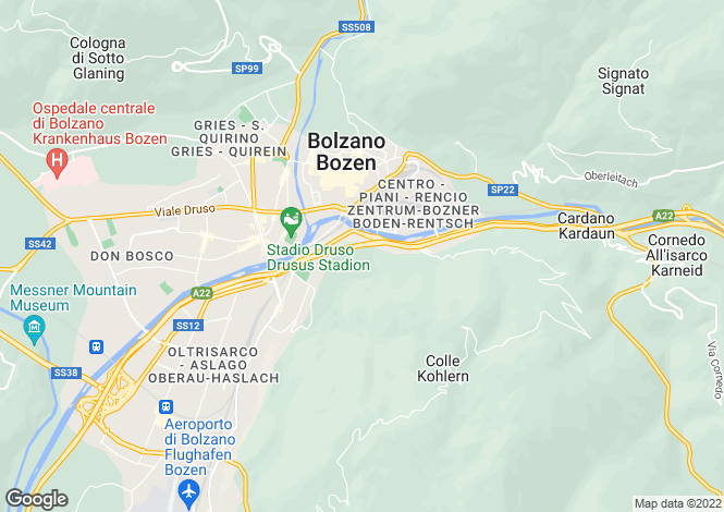 Map for Trentino-South Tyrol, Bozen, Bozen