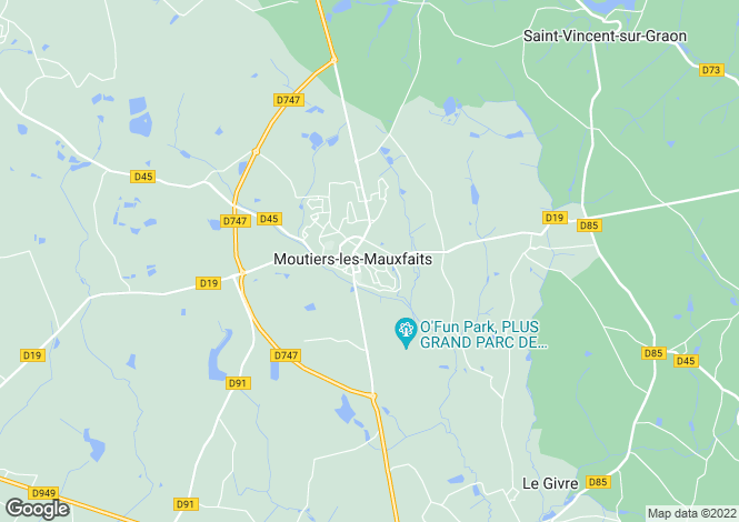 Map for Pays de la Loire, Vendée, Moutiers-les-Mauxfaits