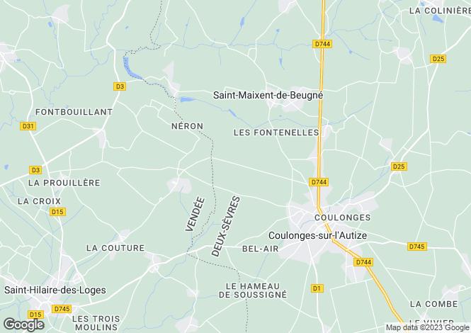 Map for Coulonges-sur-l`Autize, Deux-Sèvres, Poitou-Charentes