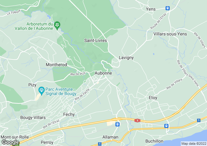 Map for Vaud, Aubonne