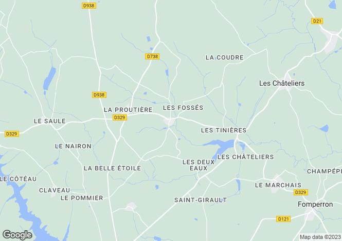 Map for chantecorps, Deux-Sèvres, France