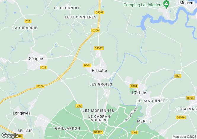 Map for pissotte, Vendée, France
