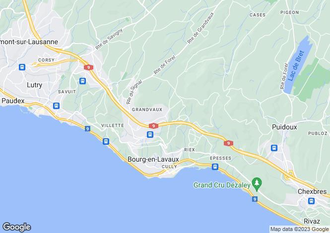 Map for Vaud, Grandvaux