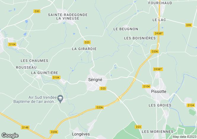 Map for Fontenay-le-Comte, Vendée, Pays de la Loire