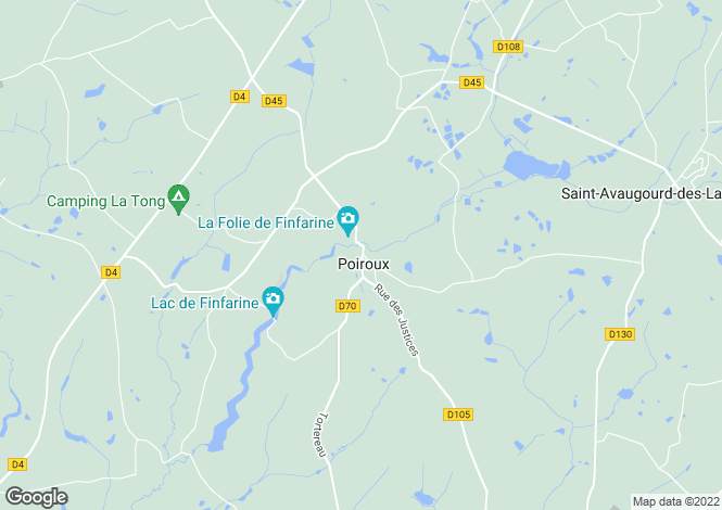 Map for poiroux, Vendée, France