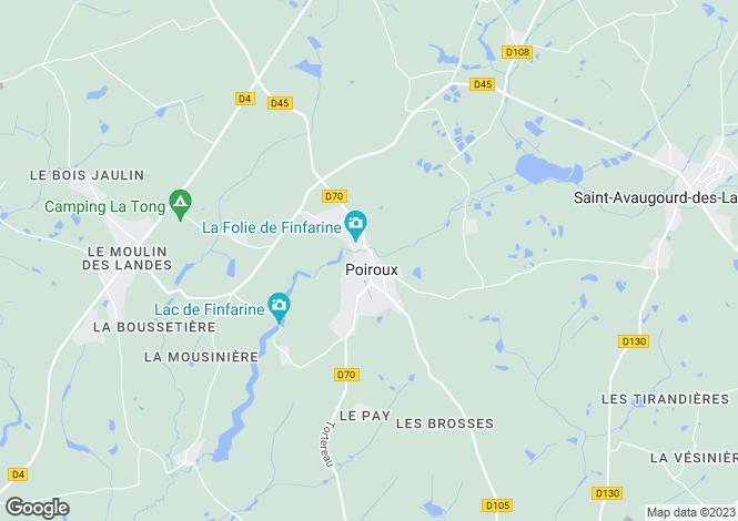 Map for Pays de la Loire, Vendée, Poiroux