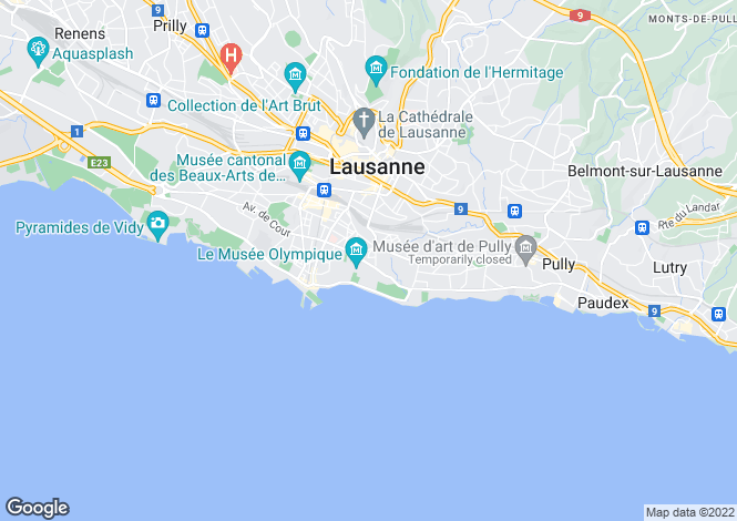 Map for Vaud, Lausanne