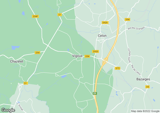 Map for vigoux, Indre, France
