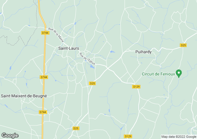 Map for Poitou-Charentes, Deux-Sèvres, St-Laurs
