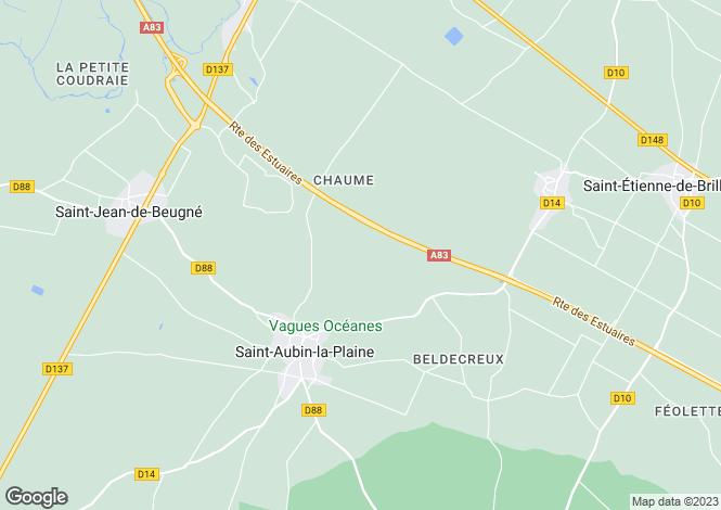 Map for st-aubin-la-plaine, Vendée, France